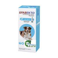 Бравекто Спот Он (Вravecto Spot On) 1000мг для собак 20-40кг от клещей и блох