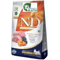 Фармина НД (Farmina N&D Adult Mini) корм для собак мелких пород ягненок, черника, тыква 2,5кг