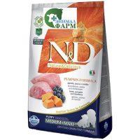 Фармина НД (Farmina N&D Puppy Medium & Maxi) корм для щенков средних и крупных пород ягненок, черника, тыква 12кг