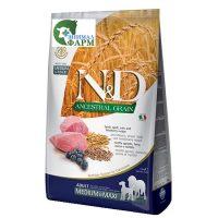 Фармина НДНЗ (Farmina N&D Low Grain Adult Maxi) корм для собак средних и крупных пород ягненок, черника 12кг