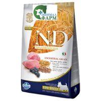 Фармина НДНЗ (Farmina N&D Low Grain Adult Mini) корм для собак мелких пород ягненок, черника 2,5кг