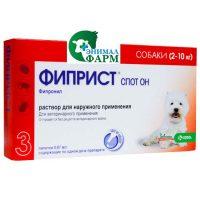 Капли Фиприст Спот Он для собак 2-10 кг 1 пипетка 0,67мл