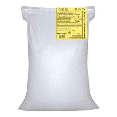 Комбикорм ПК 1-2 для кур-несушек от 45 недель и старше гранулы 25 кг