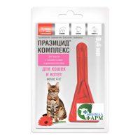 Празицид-комплекс для котят и кошек менее 4 кг пипетка 0,4мл