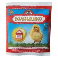 Премикс Солнышко для молодняка кур, уток, гусей в возрасте от 1-3 недель (0,5%) (150г)