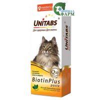 Юнитабс БиотинПлюс (Unitabs BiotinPlus) паста с биотином и таурином для кошек 120мл