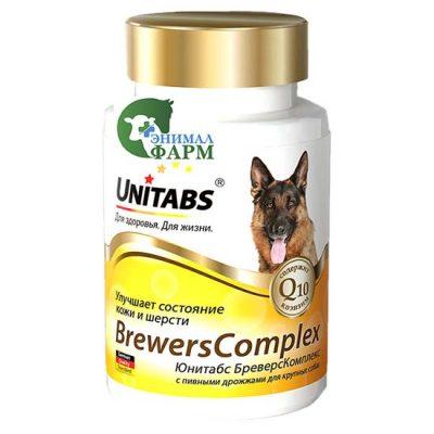 Юнитабс БреверсКомплекс (BrewersComplex) с пивными дрожжами для крупных собак (100таб) 150г