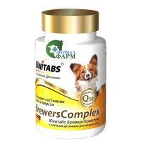Юнитабс БреверсКомплекс (BrewersComplex) с пивными дрожжами для мелких собак (100таб) 75г