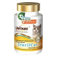 Юнитабс СтерилКэт (Unitabs SterilCat) для кастрированных котов и стерилизованных кошек (120таблеток) 60г
