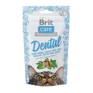 Брит (Brit Care) лакомство для кошек Dental для очистки зубов 50г
