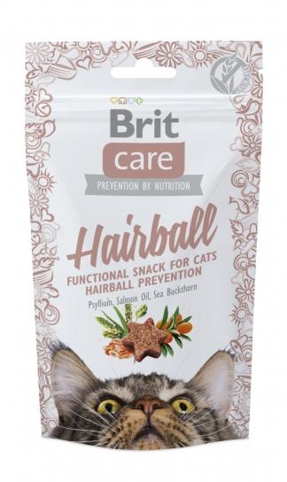 Брит (Brit Care) лакомство для кошек Hairball для вывода комков шерсти 50г