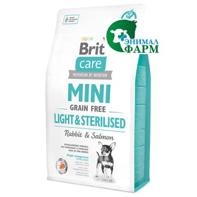 Брит (Brit Care Mini Light&Sterilised) для собак мини пород с избыточным весом, стерилизованных 2кг