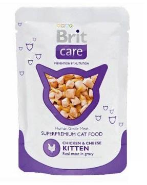 Брит (Brit Care) пауч для котят Курица и сыр 80г