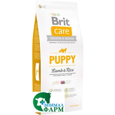 Брит (Brit Care Puppy) сухой корм для щенков всех пород Ягненок с рисом 1 кг