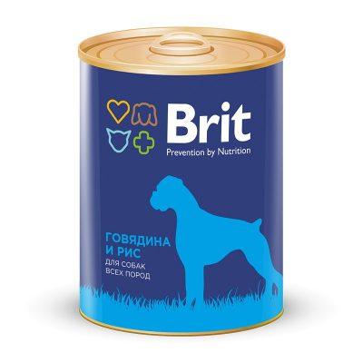 Брит (Brit) консервы для собак Говядина и рис 850г