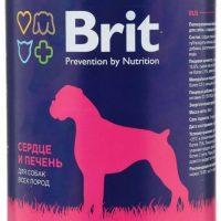 Брит (Brit) консервы для собак Сердце и печень 850г