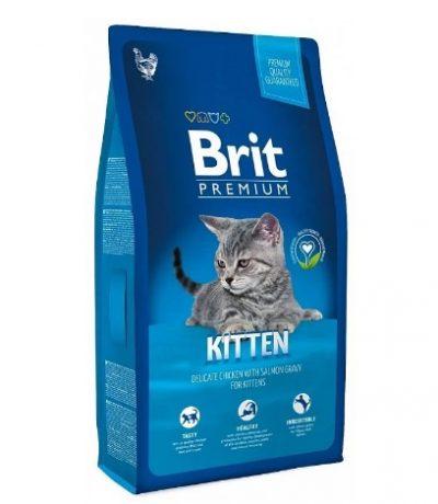 Брит (Brit New Premium Cat) Kitten для котят с курицей в лососевом соусе 800г