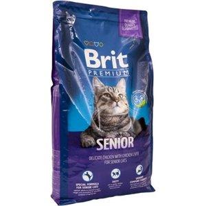 Брит (Brit New Premium Cat) Senior для пожилых кошек курица и печень 300г
