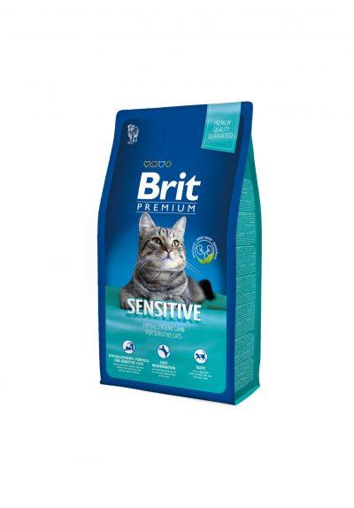 Брит (Brit New Premium Cat) Sensitive для кошек с чувствит. пищеварением, гиппоалеренный с ягненком 300г