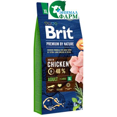 Брит (Brit Premium by Nature Junior XL) корм для молодых собак гигантских пород 15кг