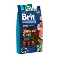 Брит (Brit Premium by Nature Lamb&Rice) для собак с чувствительным пищеварением 15кг