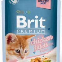 Брит (Brit Premium Gravy Chiсken) для котят кусочки из куриного в соусе 85г