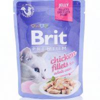 Брит (Brit Premium Jelly Chiсken) для кошек кусочки из куриного филе в желе, пауч 85г
