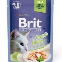 Брит (Brit Premium Jelly Trout fillets) для кошек кусочки из филе форели в желе, пауч 85г
