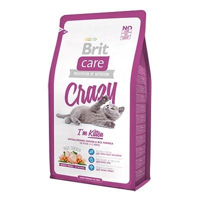 Брит (Brite Care Cat Crazy Kitten) для котят, беременных и кормящих кошек 2кг