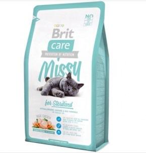Брит (Brite Care Cat Missy for Sterilised) для кастрированных котов 2кг