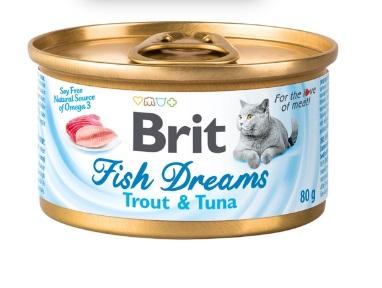 Корм влажный Brit Fish Dreams с форелью и тунцом 80г
