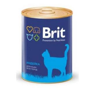 Корм влажный Brit Premium для кошек с индейкой 340г