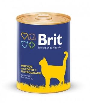 Корм влажный Brit Premium для кошек с куриной грудкой 340г