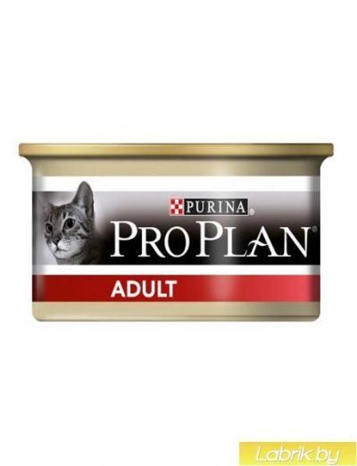 PRO PLAN (Про План) Adult консервы для взрослых кошек, курица и рис 85г