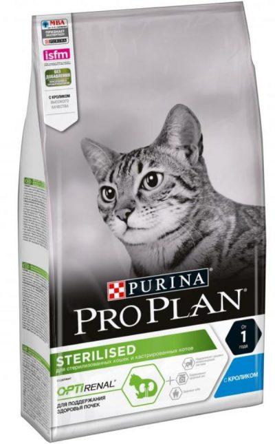 PRO PLAN (Про План) Sterilised для кастрированных котов и стерилизованных кошек, кролик 400г