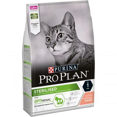 PRO PLAN (Про План) Sterilised с комплексом Optirenal для кастрированных и стерилизованных кошек с лососем 400г