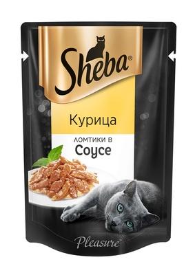 Шеба Плежер (Sheba Pleasure) ломтики в соусе с курицей 85г