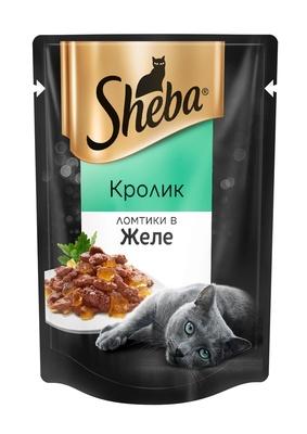 Шеба (Sheba) для взрослых кошек кролик в желе 85г