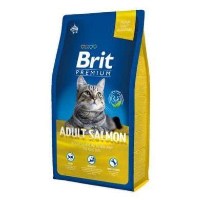 Сухой корм Brit Premium для взрослых кошек с лососем в соусе 1,5кг